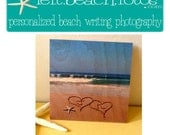 Wood Wedding Sign - Beach Wedding - Personalized Beach Writing Photography