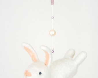 Nursery mobile - bunny mobile - baby crib mobile