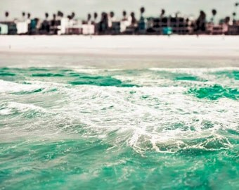 Malibu Beach, Ocean Photography, Turquoise, Blue Green, Teal, Travel, Beach House Decor, California Print