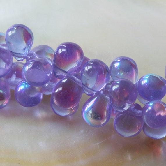 Teardrop Beads: 8x6mm Czech Glass Teardrop Beads BrioletteTeardrop Beads
