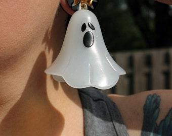 Kawaii Glow In The Dark Spoopy Ghost Earrings Pastel Goth