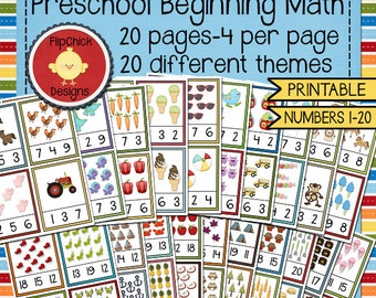 Preschool Beginning Math Printables--20 Pages