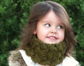 Neckwarmer Knitting Pattern - Knit Cowl Pattern - Baby Cowl - Knit Scarf Pattern - The Willow Warmer - Knits Sizes 3mos - 5yrs
