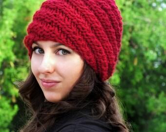 Adult Gnome Hat Knitting Pattern - English, Deutsch (German)