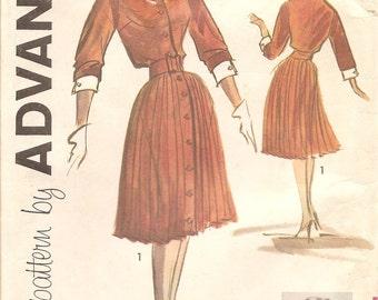Edith Head Designed Vintage 1960s Shirtdress Shirtwaist Pattern - Advance 9296 - Bust 34 UNCUT FF Shirtdress