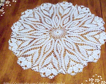 Lace Tablecloth Crocus Flower Doily Flower Tablecloth Wedding Tablecloth Crochet Lace Tablecloth
