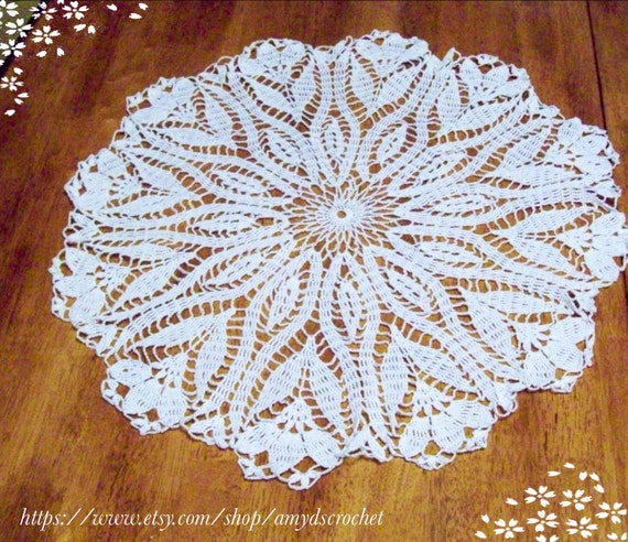 Lace Tablecloth Crocus Flower Doily
