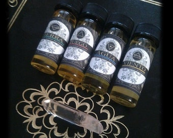 Elemental Perfume Alchemy Collection Natural Botanical Perfume Oil 4 ml(1dram) each Set of  4