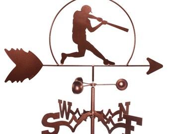 Hand Made Baseball Player MLB Weathervane NEW