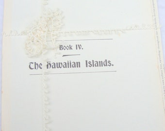 THE HAWAIIAN ISLANDS  vintage 1898 photograph and paper ephemera collection (8 sheets- 16 pages, 15 photographs)