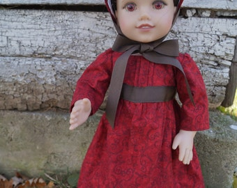 Robin Regency Dress and Bonnet for 18 inch Doll