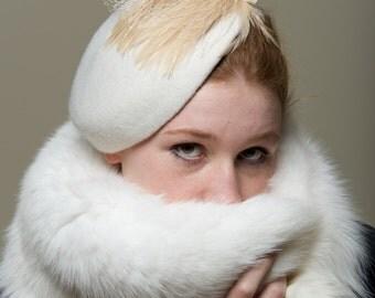 Bride Ivory  Hat  Head Piece Millinery Beret