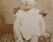 Antique CDV Photograph - Baby Photo (J. Van Crewel, Antwerp, Belgium)
