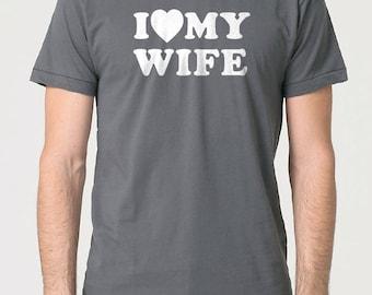 Husband Shirt I Love My Wife T-shirt Mens T shirt Husband Gift Dad Gift Wife Gift Dad Shirt Funny T shirts Wedding Gift
