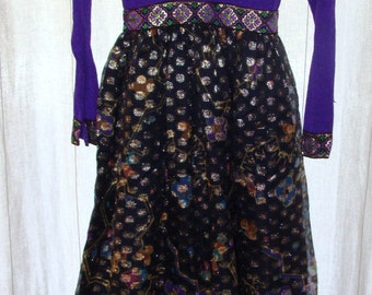 1970s Sandine Originals Gorgeous Purple floor length dress size small