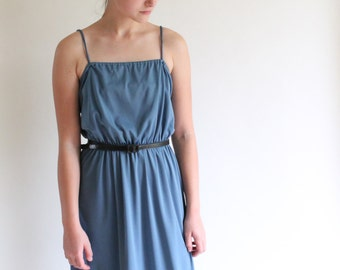 disco dress - 70s steel blue dress