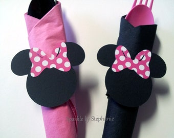 Minnie Mouse Napkin Rings - Set of 12+ - You choose the bow