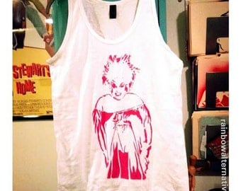Divine drag queen tank top gay pride stencil and spray paint art by Rainbow Alternative
