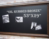 "OIL RUBBED BRONZE Finish X- Home Office Furniture LaRGE Leaning Chalkboard 53""x29"" Espresso Brown Wood Framed Blackboard"