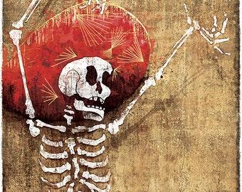 Dia de los Muertos Danse Macabre - 12x18 High Quality Art Print