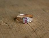 Antique Victorian gem set ruby garnet ring ∙ RADIAL