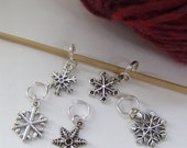 Winter Snowflakes- Stitch markers