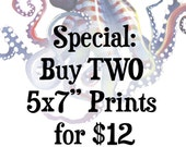 """Special Discount: Two 5x7"""" prints"""