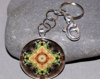 Frog Keychain Purse Charm Boho Chic Mandala New Age Sacred Geometry Hippie Kaleidoscope Mod Unique Gift for Him Or Her  Harmonious Hopper