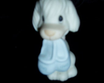 80s Enesco Puppy Dog Slippers Precious Moments 1982