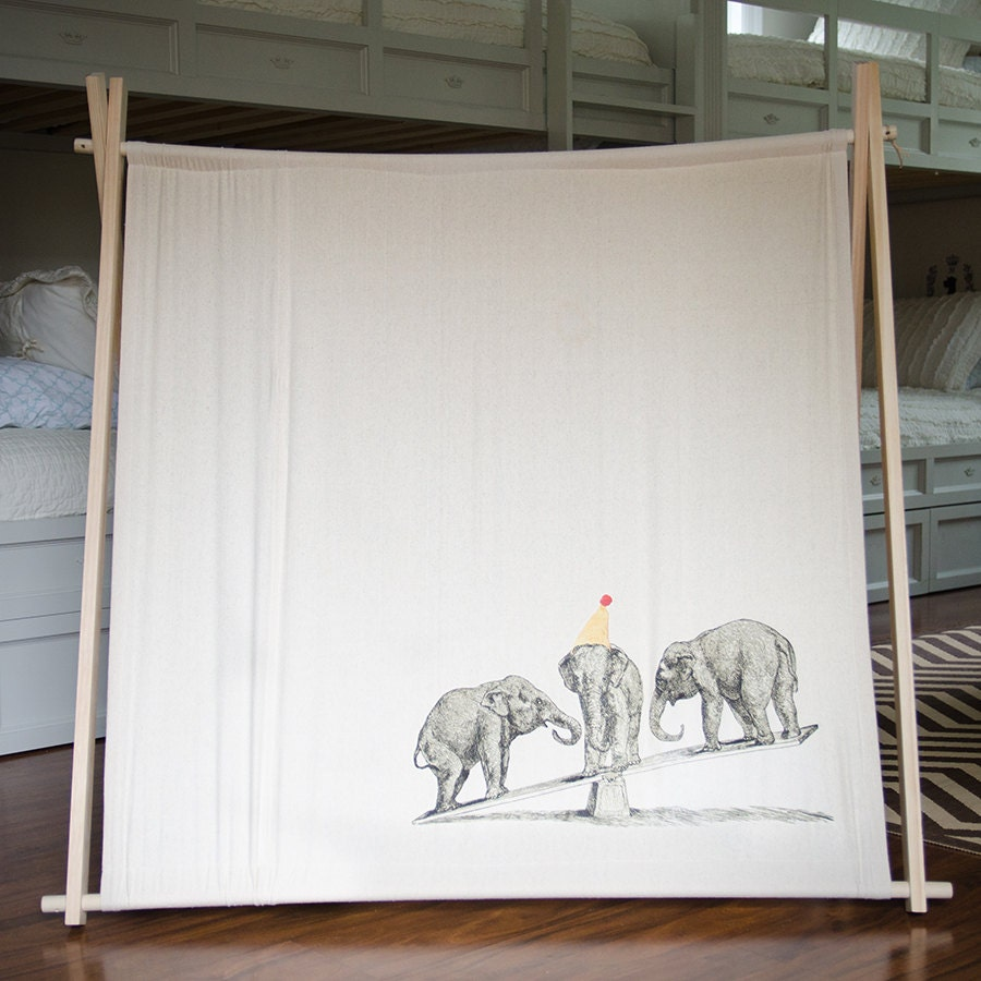 Children 39 s canvas a frame play tent or photo prop by for How to build a canvas tent frame