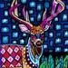 Deer Art Antlers Poster Print of  Painting  by Heather Galler (HG376)