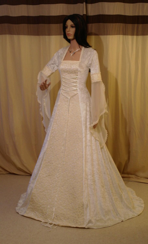 Ivory Wedding Dress Medieval Dress Wedding By Camelotcostumes