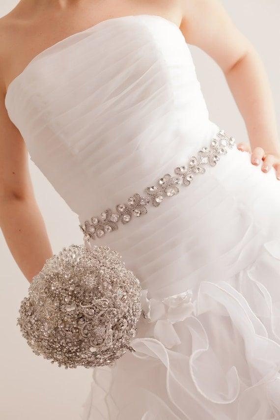 Swarovski Belt - Swarovski Sash- Bridal Belt - Bridal Sash - Wedding Belt - Wedding Sash - Crystal Belt - Crystal Sash - Charlize