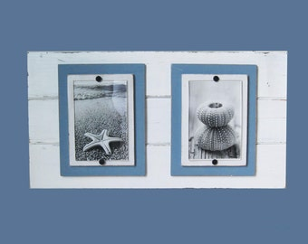 White Distressed Double Plank Frame for 4x6 Pictures