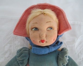 Norah Wellings Cloth Doll Adorable Smiling Face c.1940s by Gatormom13