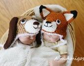 Fox and Hound Twin Set (Newborn)