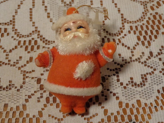 Vintage Santa Ornament Chenille Pipe Cleaner Santa Ornament