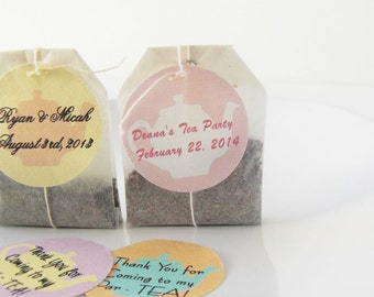 Personalized Organic Herbal Tea Favors - Teapot Design - wedding guest favors, tea favors, customizable favors for your tea party or wedding