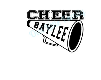 Personalized Cheer Vinyl Car Decal