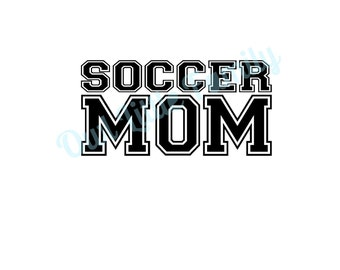 Soccer Mom Iron On Vinyl Decal