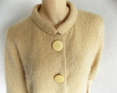 On RESERVE for Susan - 1940s Sweater Bakelite Buttons Silk Lined Handknit Vintage 1940s sweater