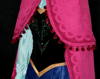 Snow Princess Anna Mountain Costume (Embroidered Skirt)