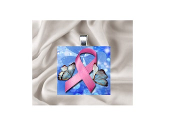 Pendant Necklace Pink Ribbon