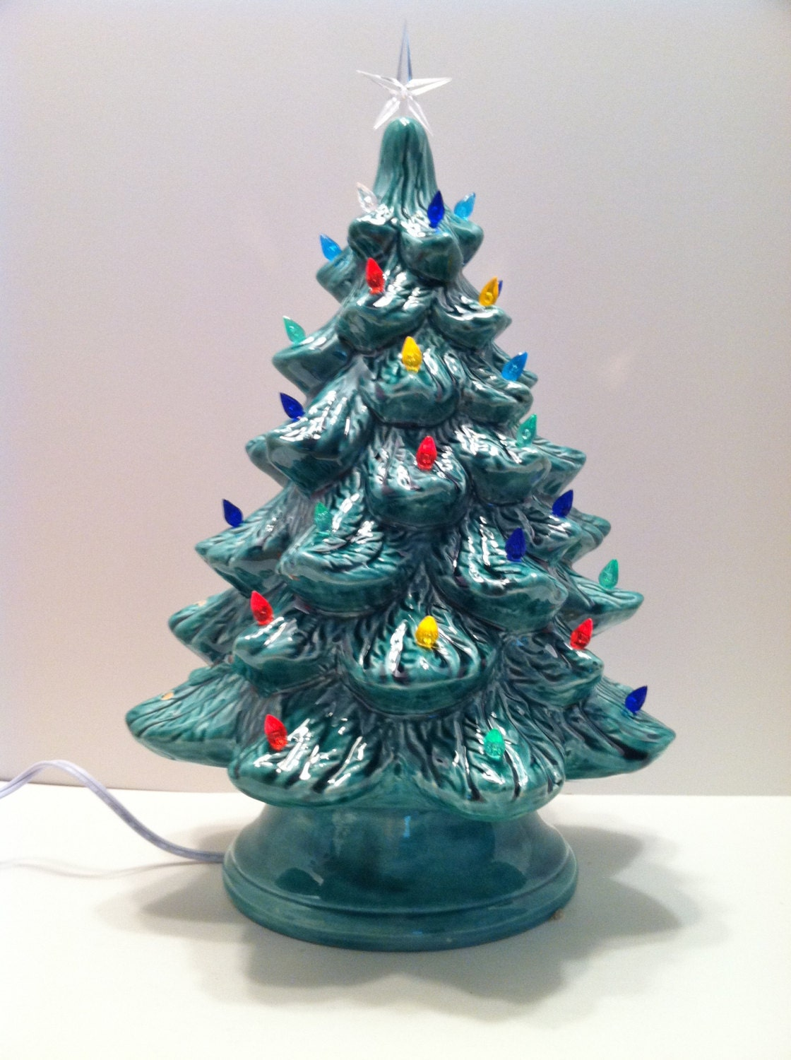 Ceramic Christmas Tree with Lights 16 inches by ...