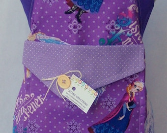 Kids Apron Anna And Elsa Disney Frozen Sisters Forever Holiday Birthday Gift For Her