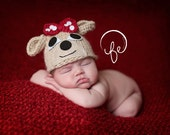 Newborn Clarice Reindeer hat ... reindeer hat.... baby hat... photo prop.... photography prop....20% off with code VALEN1 at checkout