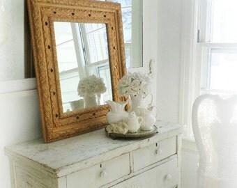 P A R L O R ...Mirror Antique Gold Mirror French Romantic Home Decor