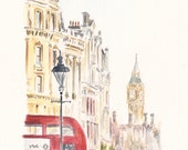 Westminster View, London. Print from an original watercolour.