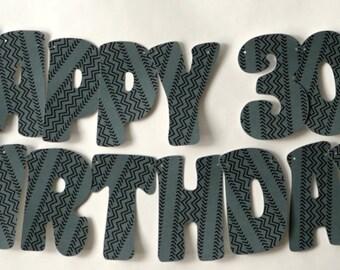 Race CAR Birthday Party Decorations BANNER, - Milestone, 16th, 18th, 21st, 30th, 40th, 50th, 60th Birthday