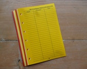 Birthday/Anniversary inserts - Fits Filofax or Organiser - yellow, orange and red - personal/pocket/mini